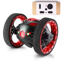 Threeking Rc Cars Outside Toys for Kids Ages 12+ Outdoor Indoor Toys Birthday Gift Present Rc Bounce Car Rechargeable Stunt Car with 2.4GHz Real-time Controller