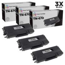 LD Remanufactured Toner Cartridge Replacement for Brother TN670 (Black, 3-Pack)