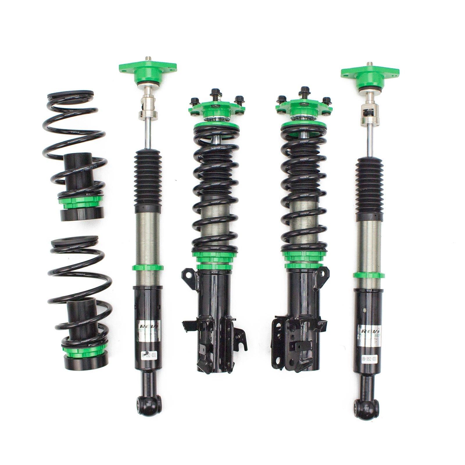 Rev9 R9-HS2-031_2 Hyper-Street II Coilover Suspension Lowering Kit, Mono-Tube Shock w/ 32 Click Rebound Setting, Full Length Adjustable