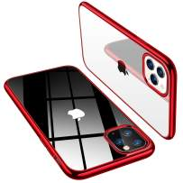 TORRAS for iPhone 11 Pro Case, Crystal Clear Back with Glossy Red Edge Drop Tested Protection Soft Silicone Case for iPhone 11 Pro, 5.8 inch