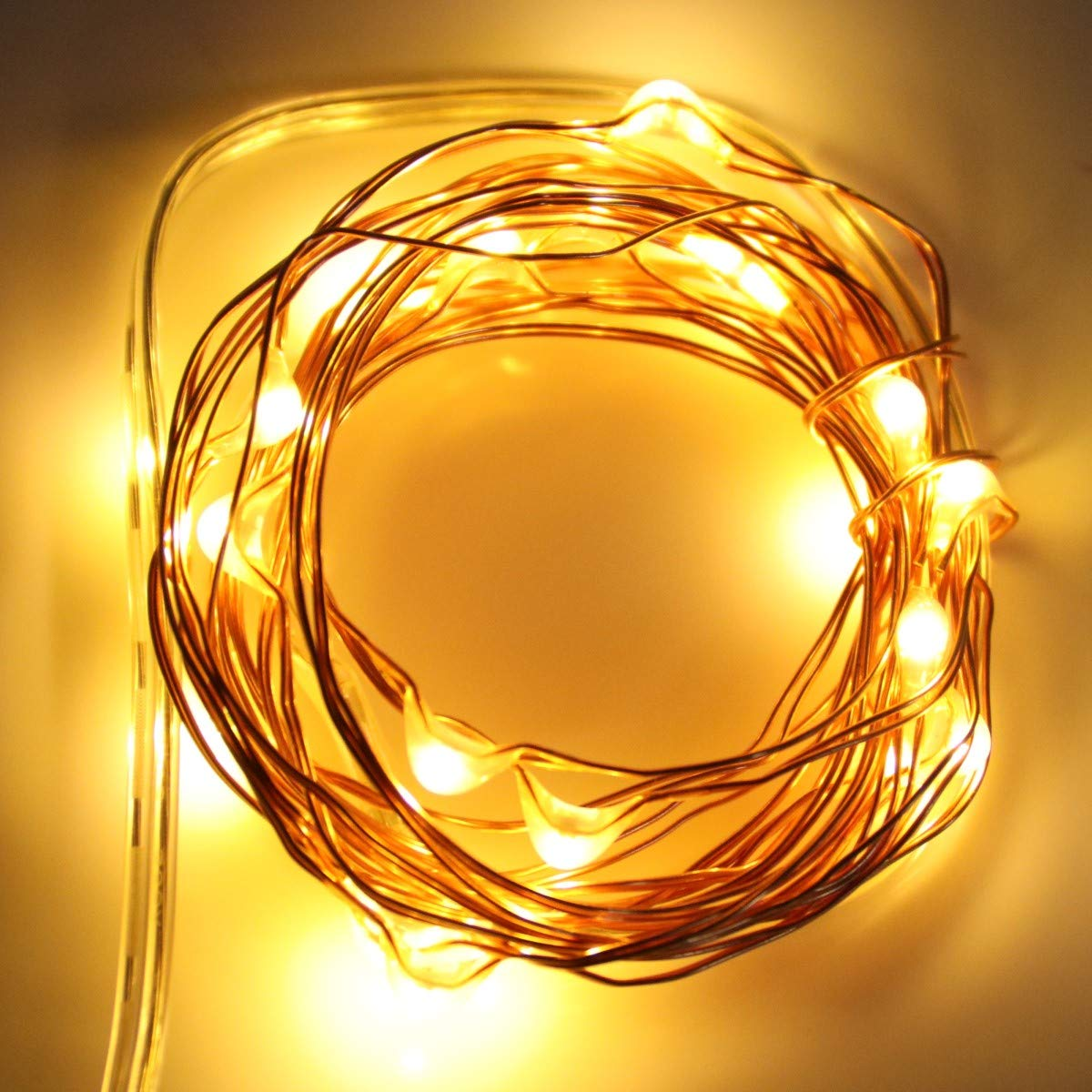TenSteed Fairy String Lights, 2 Pack Fairy Lights Battery Operated 7.2 ft 20 LED Mini String Lights Waterproof Copper Wire Firefly Starry Lights for Wedding Bedroom Party Christmas Decor(Warm White)