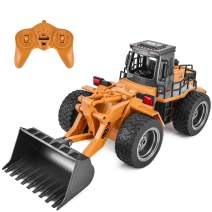 Rainbrace Remote Control Construction Toy RC Construction Vehicles RC Bulldozer Remote Control Tractor Front Loader RC Truck for Kids Remote Control Truck for Boys Toys 4 16 Years Old Boys Girls Gift