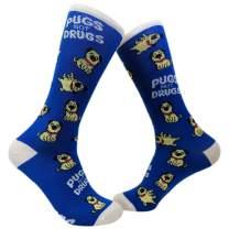 Pugs Not Drugs Socks Funny Cute Dog Lover Footwear
