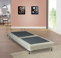 Spinal Solution Low Profile Split Fully Assembled Foundation/Box Spring for Mattress, Twin Size, Off-White
