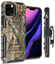 CoverON Heavy Duty Belt Clip Explorer Series for iPhone 11 Pro Max Holster Case, Camo