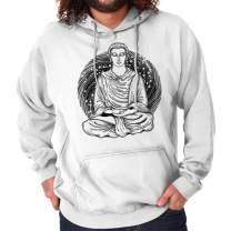 Brisco Brands Meditate Buddha Symbolic Spiritual Religion Hoodie