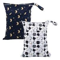 ALVABABY 2pcs Cloth Diaper Wet Dry Bags Reusable Travel Bag Mommy Bag L-YX2225