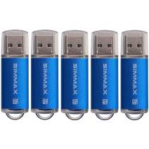 SIMMAX USB Flash Drives 5 Pack 16GB USB 2.0 Flash Drive Memory Stick Thumb Drive Pen Drive with Led Indicator (Blue)