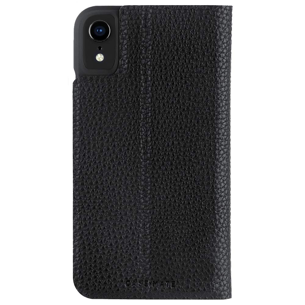 Case-Mate - iPhone XR Wallet Folio Case - BARELY THERE FOLIO - iPhone 6.1 - Black Folio