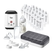 Tommee Tippee Pump and Go Complete All in One Starter Set, Breast Milk Pump, Feed, Warm and Store
