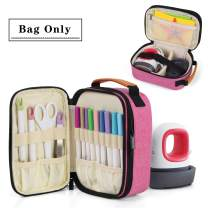 Luxja Double-Layer Carrying Case Compatible with Cricut Easy Press Mini, Tote Bag Compatible with Cricut Easy Press Mini and Supplies (Bag Only,Patent Pending), Pink