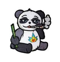 Pot Smoking Pals Cute Panda Bear - Iron on Embroidered Patch Applique