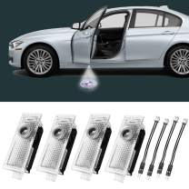 MIUJEE Car Door Lights Logo Projector LED Accessories for 328i F30 E90 F10 E60 1 3 5 6 M Mini X1 X3 X4 X6 Series Welcome Courtesy Puddle Ghost Shadow Door Light, Pack of 4