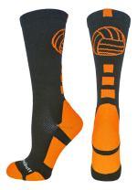 MadSportsStuff Volleyball Logo Crew Socks (Multiple Colors)