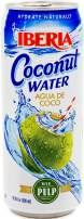 Iberia Coconut Water with Pulp, 16.9 oz, Natural Coconut Water with Pulp, Fat-Free, Low-Calorie Alternative to Soda, Coffee and Sports Drink