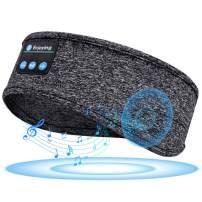Sleep Headphones Sleeping Headphones Bluetooth, Bluetooth Headband Headphones with Built-in Thin Speakers, Comfortable for Sleeping Running Yoga (Grey)