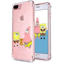 """Coralogo for iPhone 7 Plus/ 8 Plus TPU Case, 3D Cute Cartoon Funny Design Character Protective Kawaii Fashion Fun Cool Cover Skin Teens Kids Girls Cases for iPhone 8 Plus/ 7 Plus 5.5"""" (Sponge Patrick"""