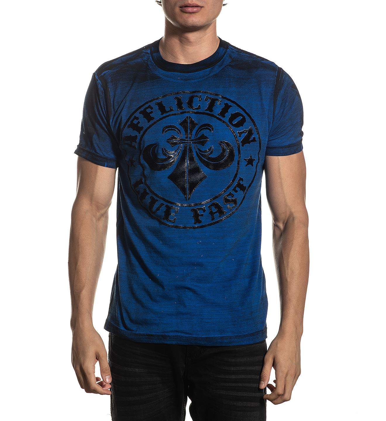 Affliction Men's Graphic T-Shirt, Divio Dare Variant, Short Sleeve Crew Neck Shirt