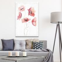 wall26 - Canvas Wall Art - Watercolor Paint Red Poppy Flower Series Artwork - Giclee Print Gallery Wrap Modern Home Decor Ready to Hang - 12x18 inches