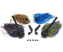 Harmony Fishing - Tungsten Football Jigs (Modular Skirt Kit - 2 Jigs, 4 Skirts, 2 Rattles, 5 Bait Pegs)