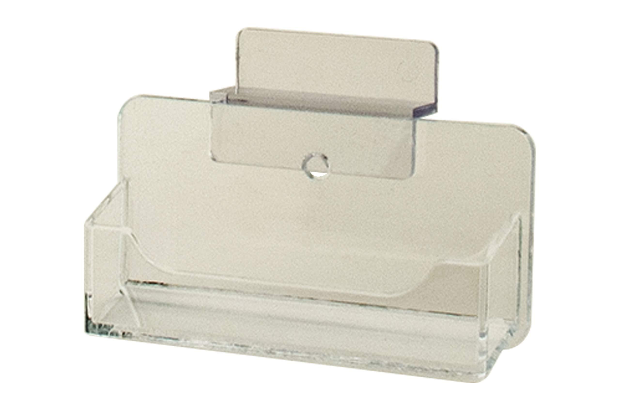 Marketing Holders Slatwall Business Card Holder Display Rack Desk Stand Clear Qty 4