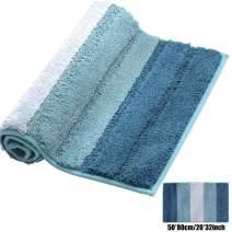 XIYUNTE Striped Bath Mat Non Slip - 20 x 32(50 x 80cm) Luxurious Microfiber Bathroom Rugs, Soft and Absorbent Shaggy Carpet Rugs for Bathroom,Living Room, Machine Washable Door Mats, Floor Mat