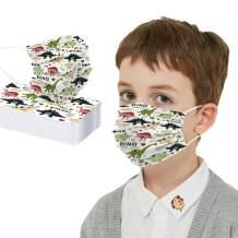 Kids Breathable Face Bandanas with Cartoon Design Dinosaur Kids Face Bandana Covering for Anti Dust Children Boys Girls