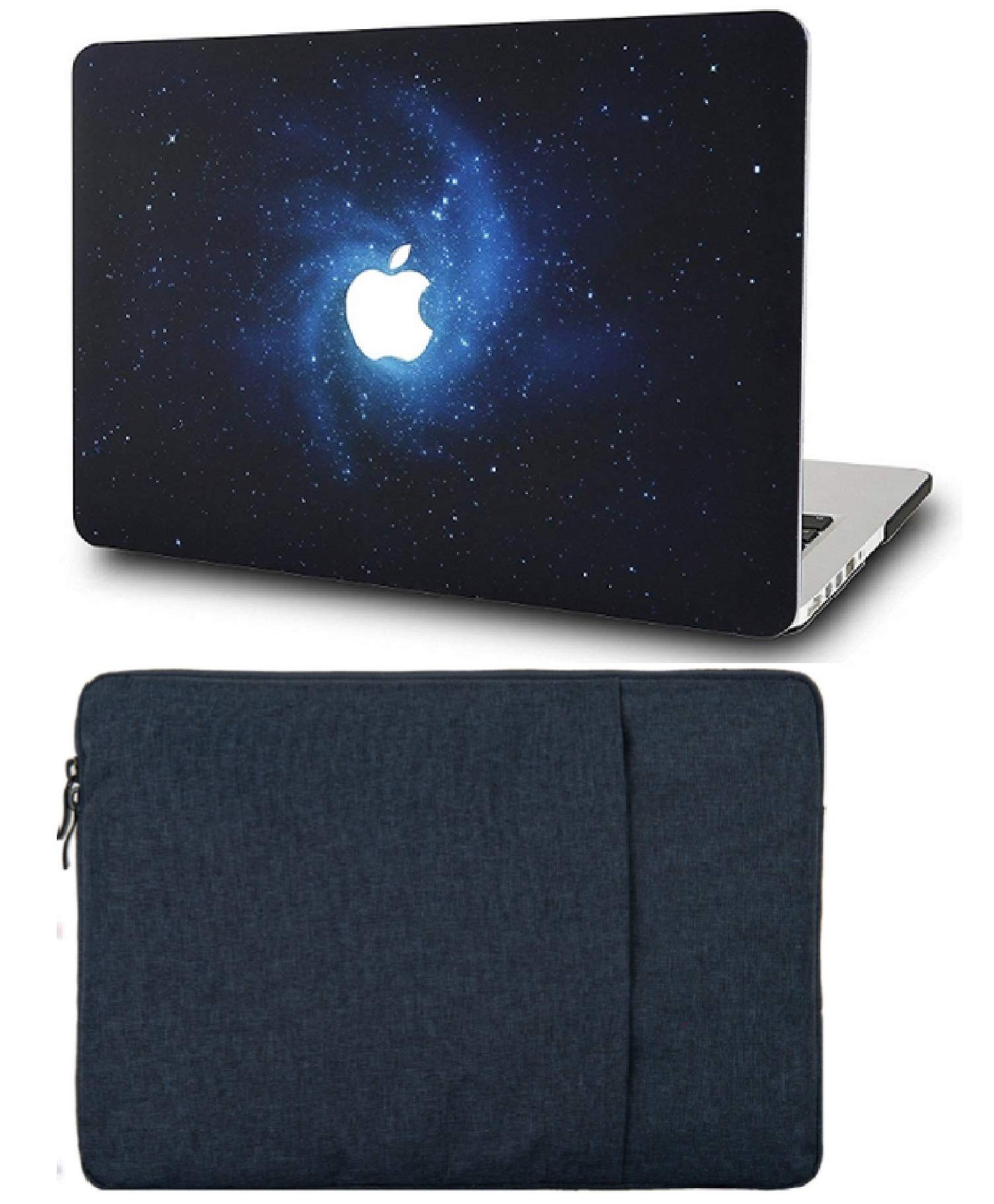 """KECC Laptop Case for MacBook Air 13"""" Retina (2020/2019/2018, Touch ID) with Sleeve Plastic Hard Shell Case A2179/A1932 2 in 1 Bundle (Blue)"""