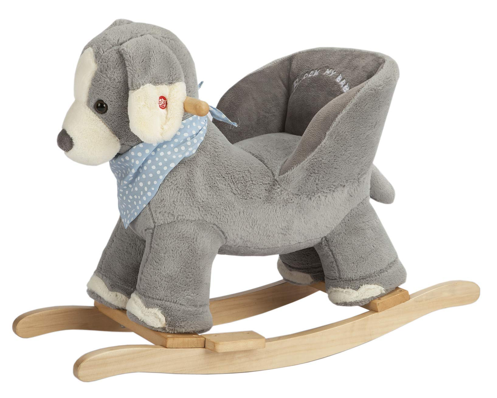 Rock My Baby Baby Rocking Horse Puppy With Chair Plush Stuffed Animal Dog Rocker Wooden Rocking Toy Puppy Baby Rocker Animal Ride On For Girls And Boys Age 1 Year And Up