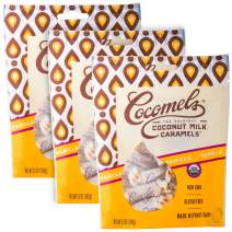 Cocomels Coconut Milk Caramels, Vanilla Flavor, Organic Candy, Dairy Free, Vegan, Gluten Free, Non-GMO, No High Fructose Corn Syrup, Kosher, Plant Based, (3 Pack)