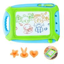HAIMST Magnetic Drawing Board for Toddlers, Doodle Writing Board Painting Erasable Sketching Pad for Kids Travel Games Educational Toys, Travel Size (Green)