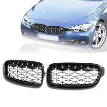 DSISIMO 1 Pair Diamond Star-shaped Front Kidney Grille Grill Replacement Conversion Grill Fit For BMW 3 Series F30 F31 F35 320i 328i 328d 330i 335i 2012-2018