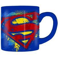 Silver Buffalo SP110232 DC Comics Superman Splatter Paint Logo Ceramic Mug, 14-Ounces,Multicolor