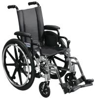 """Viper Wheelchair with Flip Back Removable Arms, Desk Arms, Swing Away Footrests, 12"""" Seat"""