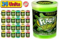 JA-RU Flarp Putty Glow in The Dark Scented Noise Putty (24 Units Assorted Color) Squishy Shine Neon Colors, Noise Putty Slime, ADHD Autism Stress Toy Party Favor Toys Kids Boys & Girls 341-24p