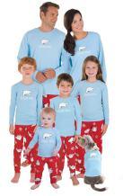 PajamaGram Family Pajamas Chill Out - Family Christmas Pajamas Set, Blue/Red