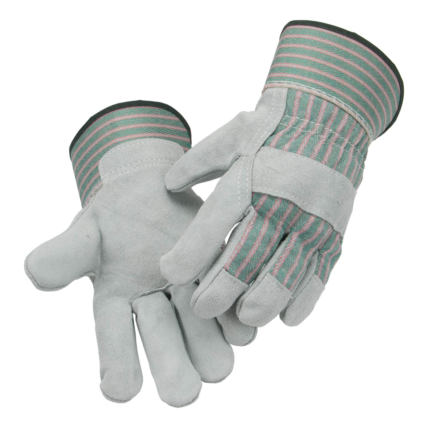 """3 Pairs Laproter Split Leather Design - Heavy Duty Industrial Safety Gloves Size M 10"""" inch AB Grade Cow Split Leather with Safety Cuff (3, M)"""