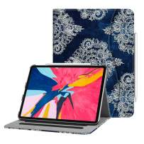 """Fintie Case for iPad Pro 11"""" 2018 [Supports 2nd Gen Pencil Charging Mode] - Multi Angle Viewing Folio Cover with Pocket [Secure Pencil Holder] Auto Sleep/Wake for iPad Pro 11 2018, Indigo Dreams"""