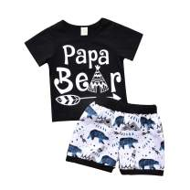 Toddler Baby Boy Girl Clothes Wild One Print Summer Cotton Sleeveless Outfits Set Tops and Short Pants Black