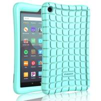 "Cuauco Silicone Case for All-New Amazon Fire 7 Tablet(9th Generation,2019 Release)-[Kids Friendly] Light Weight [Anti Slip] Shock Proof Protective Cover for All-New Fire 7 Tablet(7"" Display)-Turquoise"