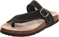 White Mountain Shoes Carly Leather Footbeds Sandal