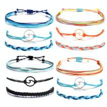 YANCHUN Sunflower Wave Bracelet Anklet Waterproof String Bracelets for Women Mountain Anchor Anklet Summer Beach Jewelry