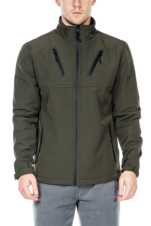 Nonwe Men's Softshell Jacket-Outdoor Windproof Front-Zip