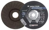 Walter 11F142 ZIP Stainless Cutoff Wheel - [Pack of 25] A-60-SS ZIP Grit, Type 27, 4-1/2 in. Abrasive Wheel for Cutting Pipes, Hard Surfaces