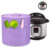 Luxja Dust Cover for 6 Quart Instant Pot, Cloth Cover with Pockets for Instant Pot (6 Quart) and Extra Accessories, Lavender (Medium)