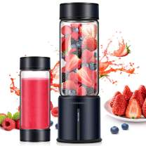 REDMOND Portable Blender, Personal USB Rechargeable Blender, Mini Juicer to make Shake and Smoothie, Single Serve Stainless Steel Juicer Cup Fruit Mixer, 16oz Large Capacity Travel Outdoor and Home Use, BL014