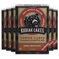 Kodiak Cakes Protein Pancake Power Cakes, Flapjack and Waffle Baking Mix, Dark Chocolate, 18 Ounce (Pack of 6)