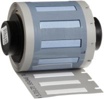"Brady PSPT-094-1-WT TLS 2200 And TLS PC Link 0.182"" Height, 1.015"" Width, B-342 Heat-Shrink Polyolefin White Color Wire Marker Sleeves (100 Per Roll)"
