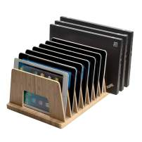 MobileVision Bamboo Device Organizer for Smartphones, Tablets and Laptops, 10 Slots