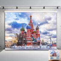 Winter Snow Holiday Christmas Photography Backdrop Vinyl 7x5ft Russia Church Dome Cathedral Travel Tourism Photo Background Street Scenery Wedding Party Photo Booths Studio Props Supplies